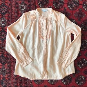 SEE BY CHLOE | Peach Blush Button Down Blouse Top